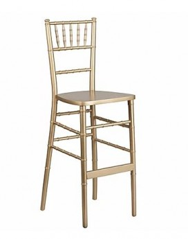 Gold Stackable Wood Chiavari Bar stool