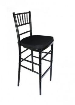 Black Stackable Wood Chiavari Bar stool