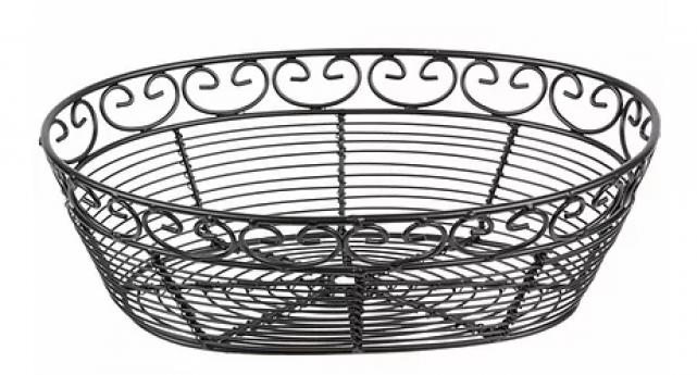 Wired Black Oval Bread Basket 10