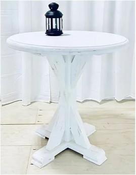 White Meskite Table
