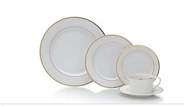 Gold Bands Dinnerware