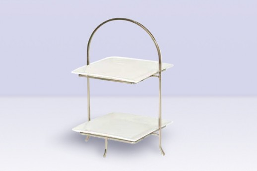 Plate Stand Two Tier, Square