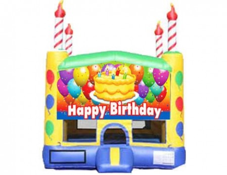 Candle Bounce House - Birthday Cake