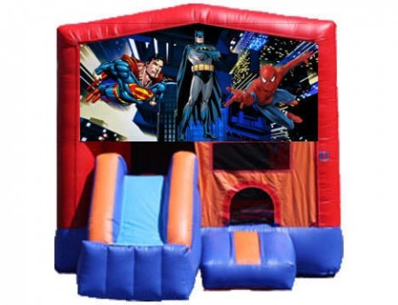 3-in-1 Combo with Front Slide - Superheroes (Dry)