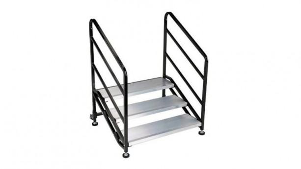3 Step Wenger Stagetek Stage Stairs w/Rail Rental