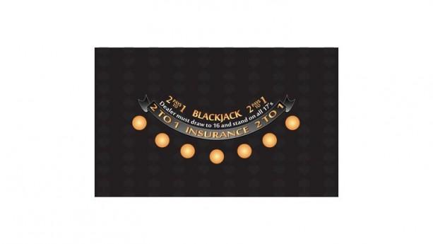 6' Black Blackjack Casino Game Table Top Only Rental