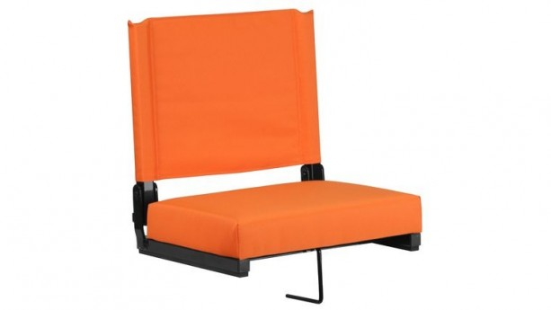 Orange Grandstand Comfort Seats by Flash with Ultra-Padded Seat