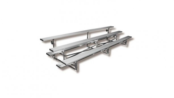 21' - 3 Row Tip N Roll Portable Aluminum Bleacher (Seats 42*)