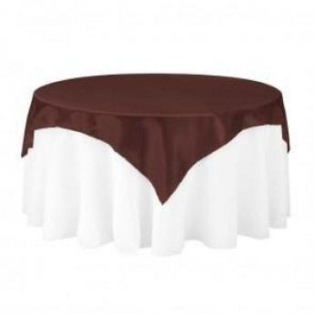 Chocolate Satin Table Cover