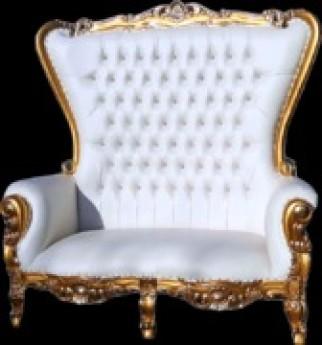 Sofia Gold Throne Love Seat
