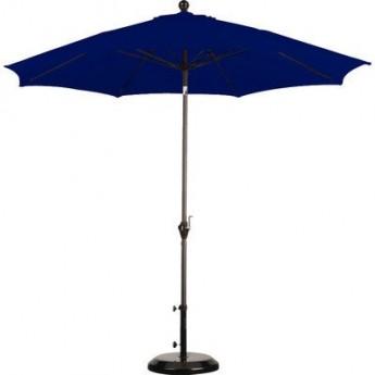 9ft Blue Umbrella With Base