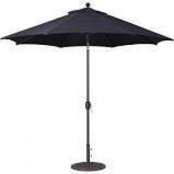 9ft Black Umbrella with Base