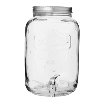 GLASS BEVERAGE JAR 2 GALLON