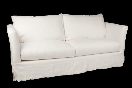 VINTAGE WHITE CANVAS SOFA