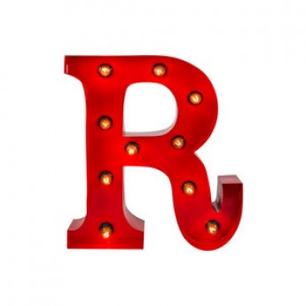 MARQUEE LETTER - R - RED