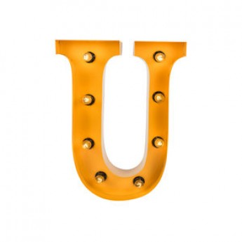 MARQUEE LETTER - U - GOLD