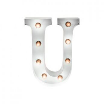 MARQUEE LETTER - U - WHITE