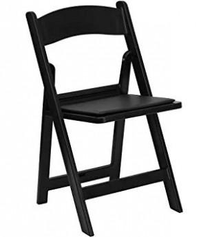Black Foldable Resin Chair