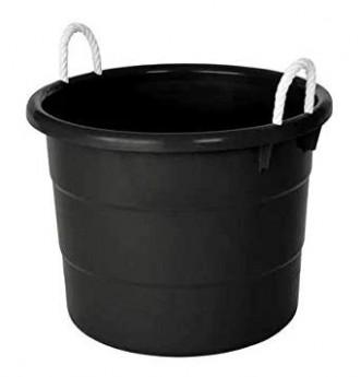 Black Plastic Tub