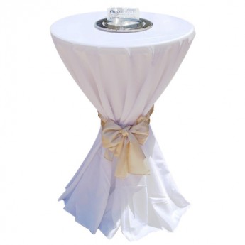 White Tablecloth Poly for Cocktail Table 132
